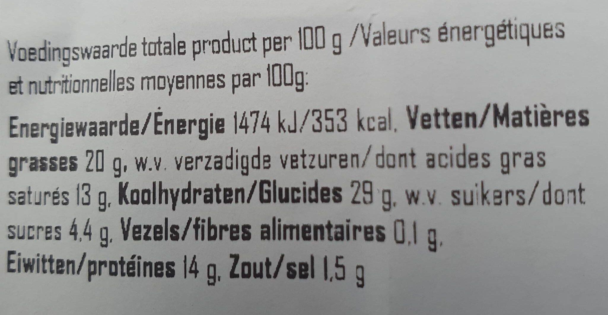 Croissant au jambon et fromage - Nutrition facts - fr