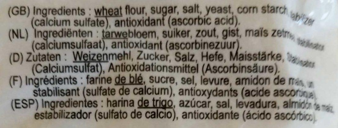 Bread crumbs - Ingrédients
