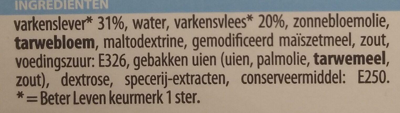 Smeerpaté Crème - Ingrediënten - nl
