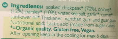 Organic Falafels Bio - Ingredients - en