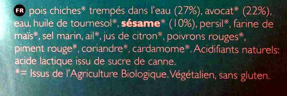 Salade Hummus Bio - Ingredients - fr