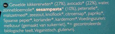 Salade Hummus Bio - Ingrediënten - nl