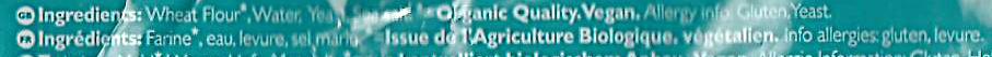 Bio Organic Pita Bread - Ingrediënten