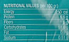 Bio Organic Pita Bread - Voedingswaarden