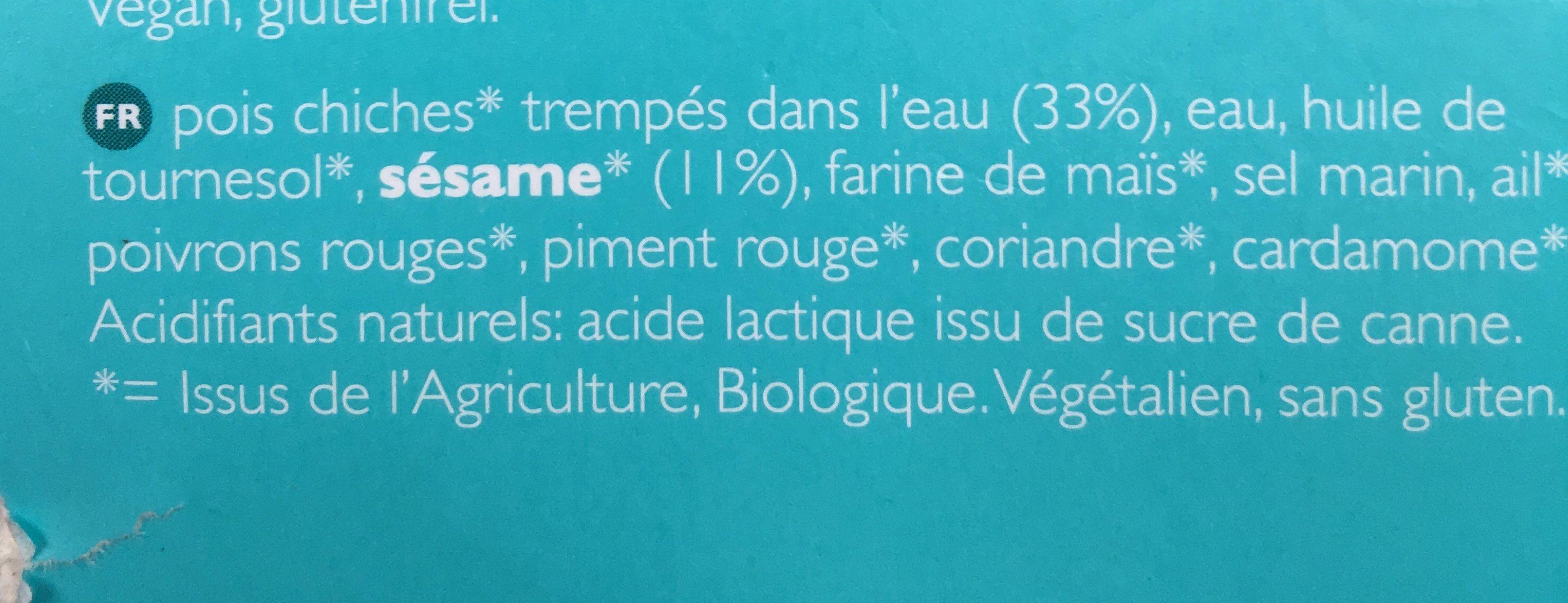Houmous Libanais - Ingrediënten - fr