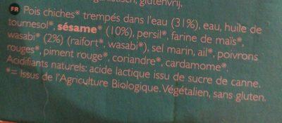 Hummus Wasabi Bio - Ingredients - fr