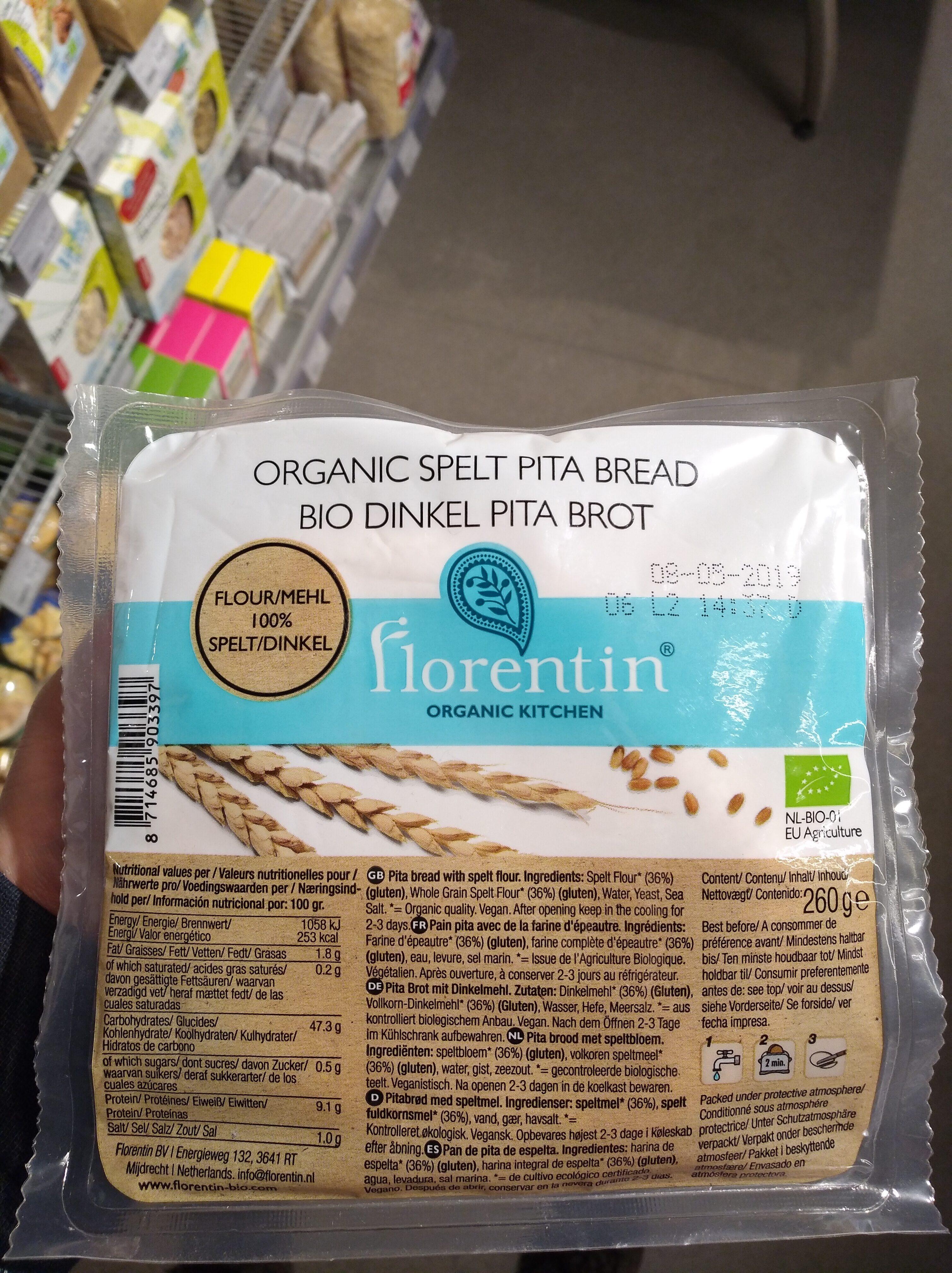 Organic spelt pita bread - Product - nl