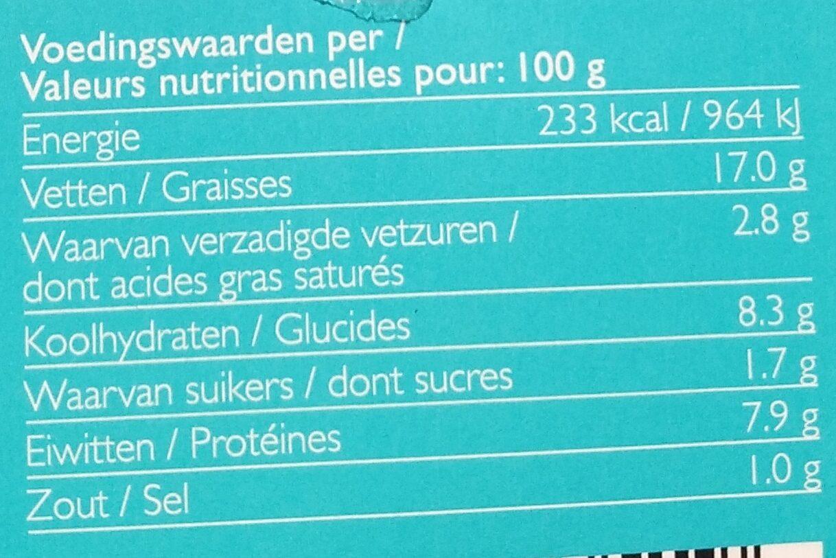 Hummus + - Nutrition facts - fr