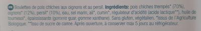 Mini falafel - Ingredients - fr