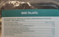 Mini falafel - Nutrition facts - fr