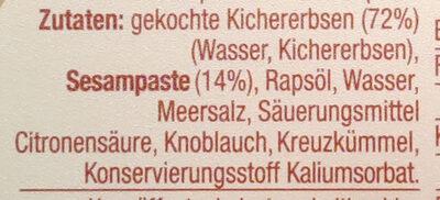 Hummus classic - Zutaten - de