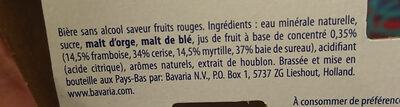 Fruity Rosé 0,0% - Ingredienti - fr