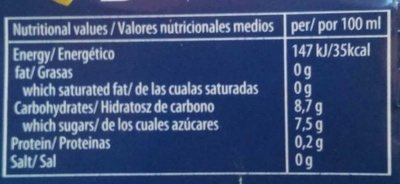 Fruity Rosé 0,0% - Valori nutrizionali - fr