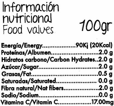 Tomates cherry 'Sarita' - Nutrition facts - es