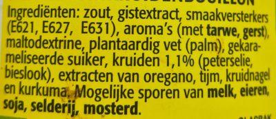 Tuinkruiden bouillon vegetarisch - Ingrediënten - nl