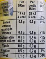 Tuinkruiden bouillon vegetarisch - Voedingswaarden - nl