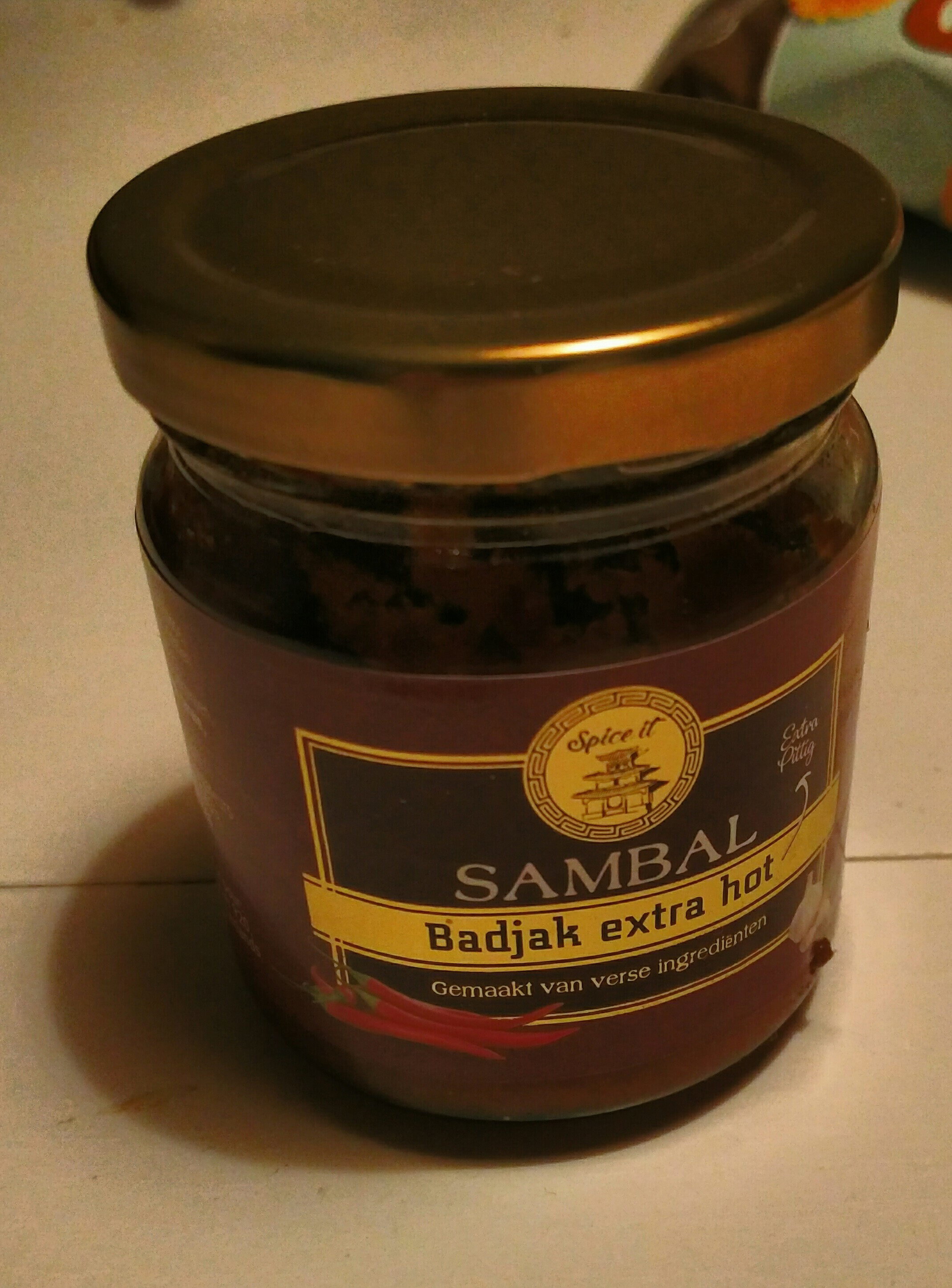 Sambal badjak extra hot - Product - nl