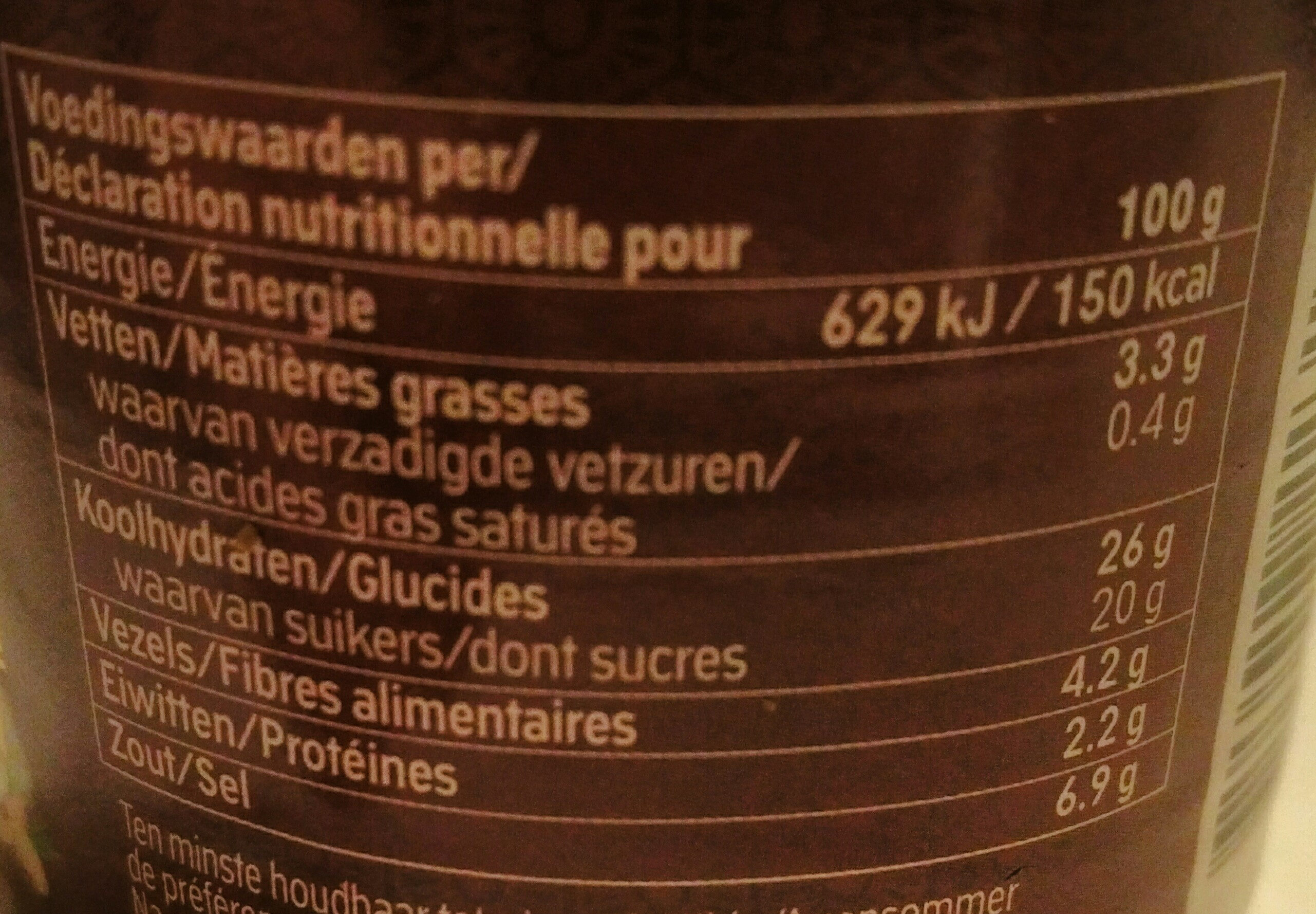 Sambal badjak extra hot - Voedingswaarden - nl
