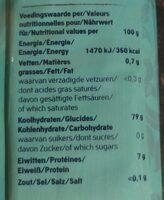 Rice noodles - Voedingswaarden - fr
