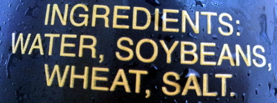 Soy Sauce salé - Ingredients
