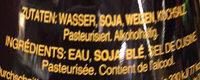 Sauce soja - Ingredients
