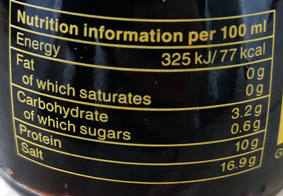 Soy sauce - Nutrition facts - en