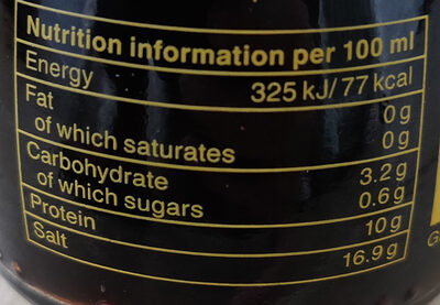 Sauce soja - Nutrition facts - en