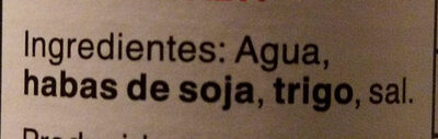 Salsa de Soja - Ingredientes - es