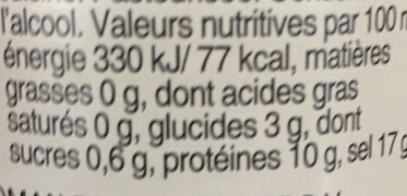 Sojasauce - Informations nutritionnelles - fr