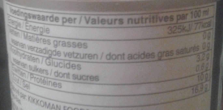 Soy Sauce 1 l - Voedingswaarden - fr