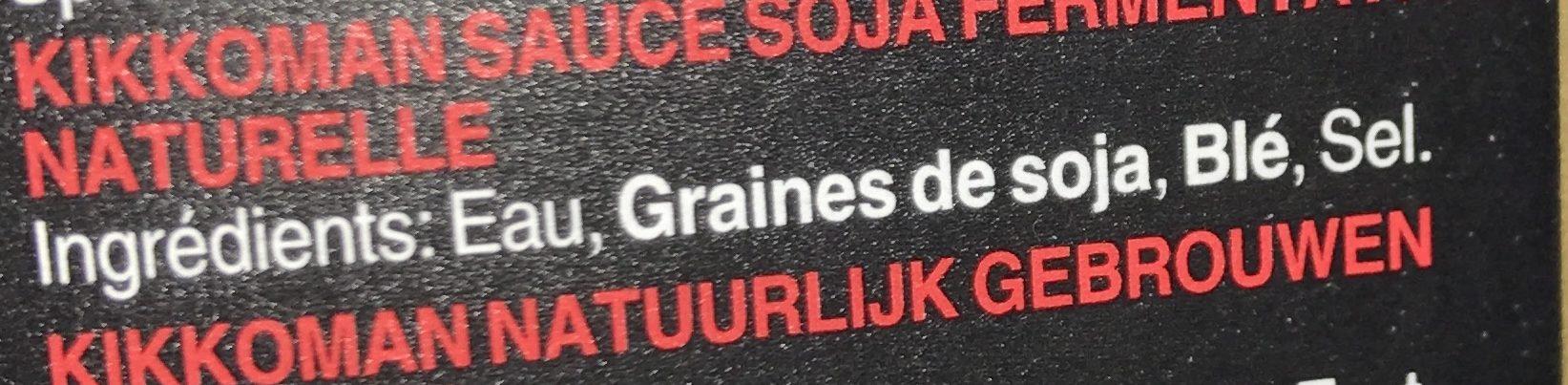 Soy sauce - Ingrédients