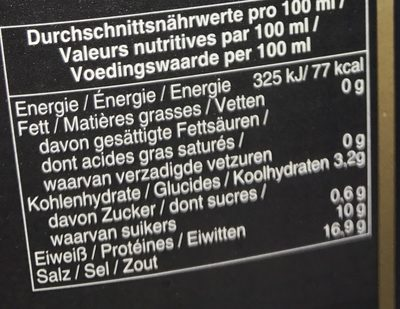 Soy sauce - Informations nutritionnelles