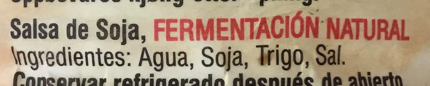 Sauce soja - Ingredientes