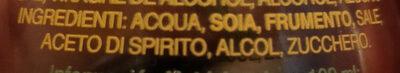 salsa di soia a tasso ridotto di sale - Ingredients - it