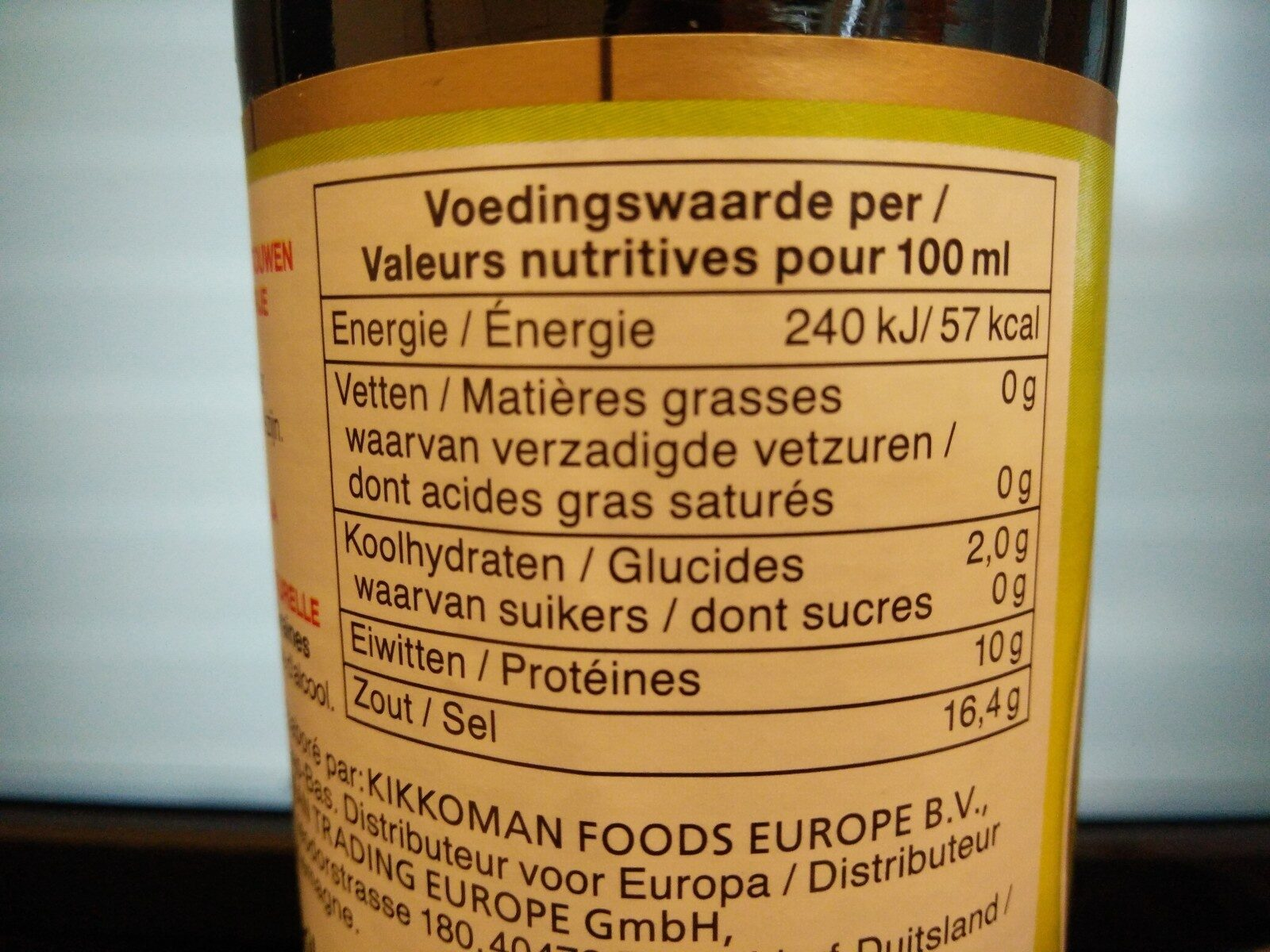 Sauce Soja Sans Gluten Tamari - Ernæringsfakta - en