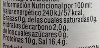 Sojasauce - Información nutricional - es