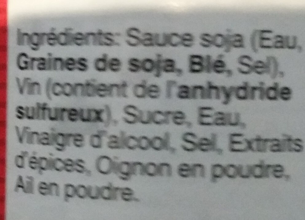 Teriyaki - Ingredients - en