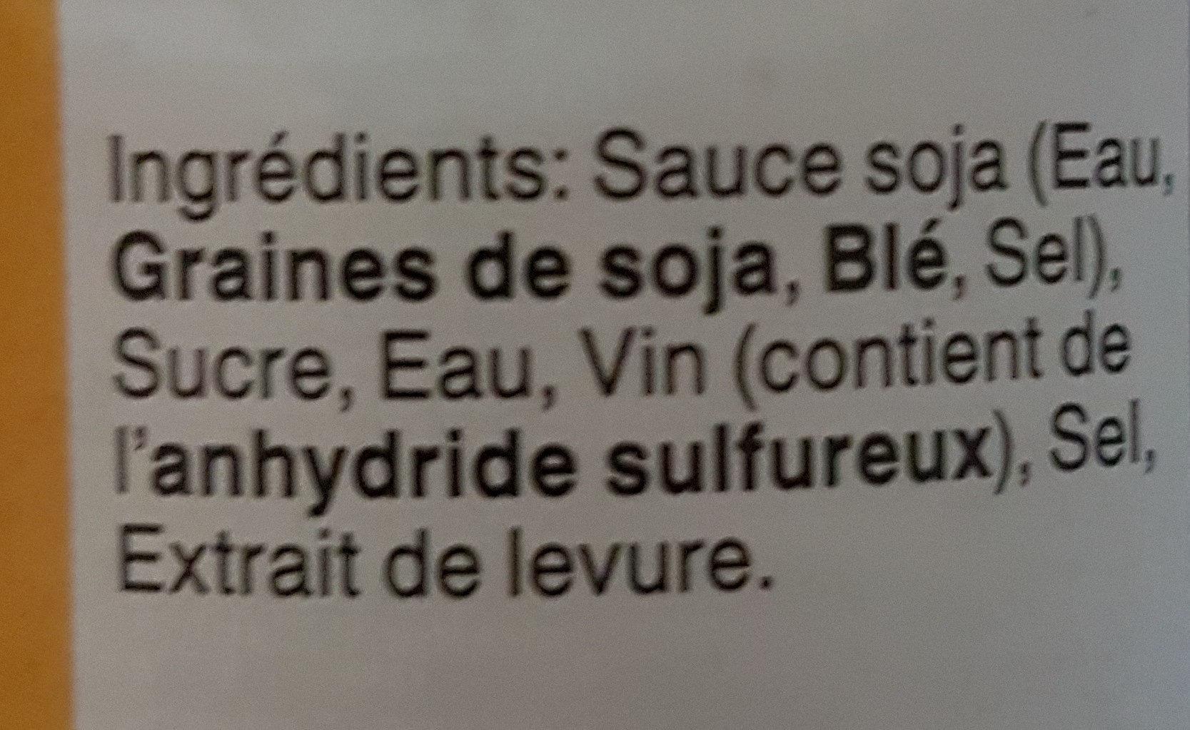 Sauce wok rapide et savoureux - Ingrédients - fr