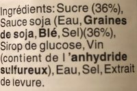 Sauce soja sucrée - Ingrediënten