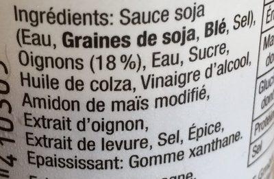 Onion dressing - Sauce salade à l'oignon - Ingrédients - fr