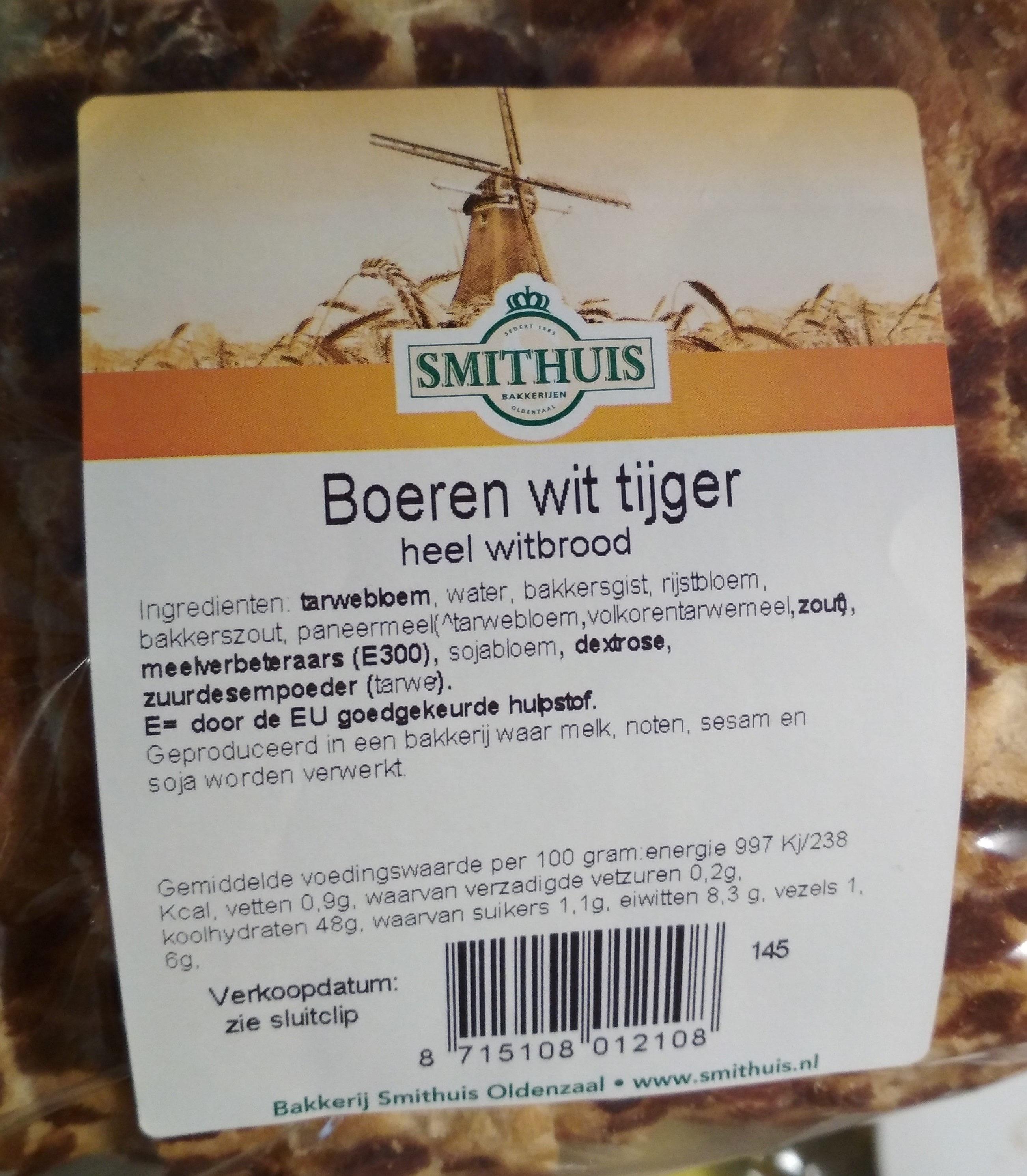 Boeren wit tijger heel witbrood - Product - nl