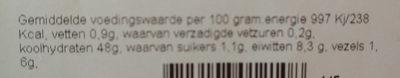 Boeren wit tijger heel witbrood - Voedingswaarden - nl