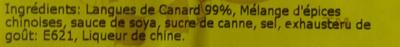 Langues de Canard Mariné - Ingrediënten - fr