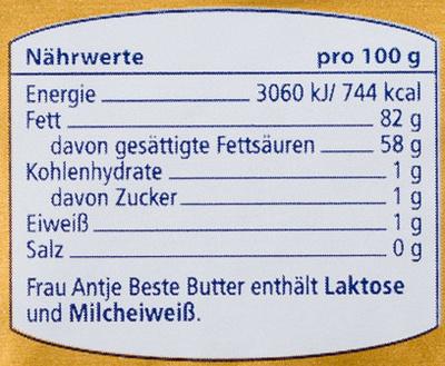 Beste butter - Informations nutritionnelles - de