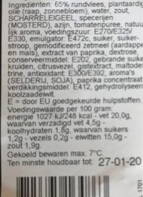 Filet americain - Product - nl