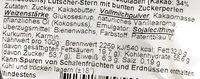 Vollmilch Schokoladen Lutscher-Stern mit bunten Zuckerperlen - Inhaltsstoffe