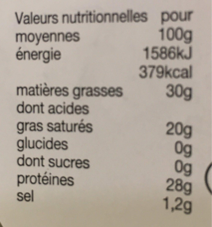 Cubes gouda cumin - Voedingswaarden - fr