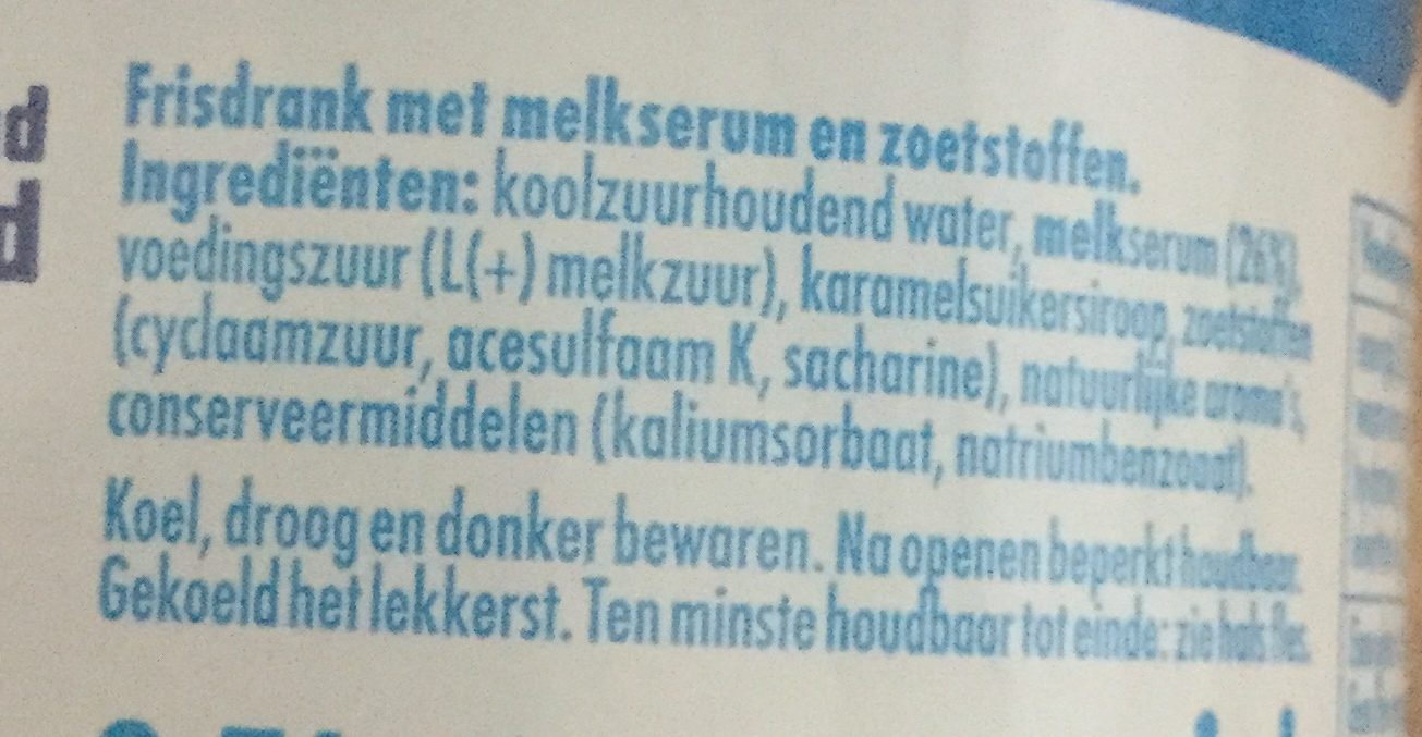 Original - Ingredients - nl