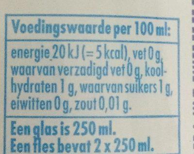 Original - Nutrition facts - nl