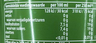 Pepsi Next - Informations nutritionnelles